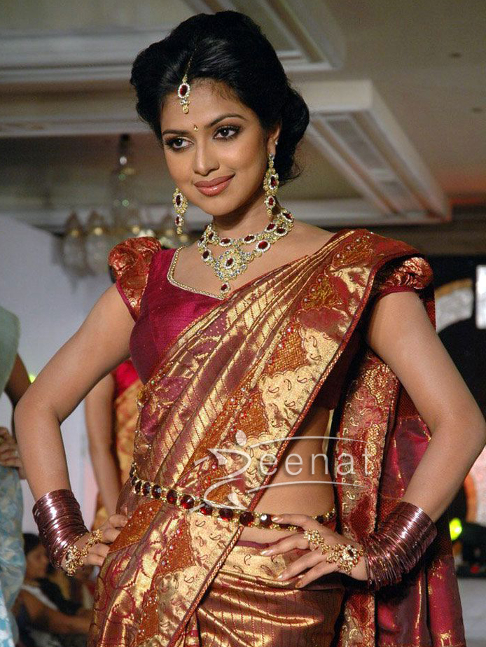 Amala Paul Silk Saree