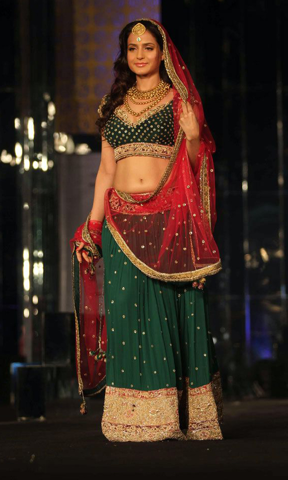 Amisha Patel In Rocky S Designer Lehenga At Aamby Valley
