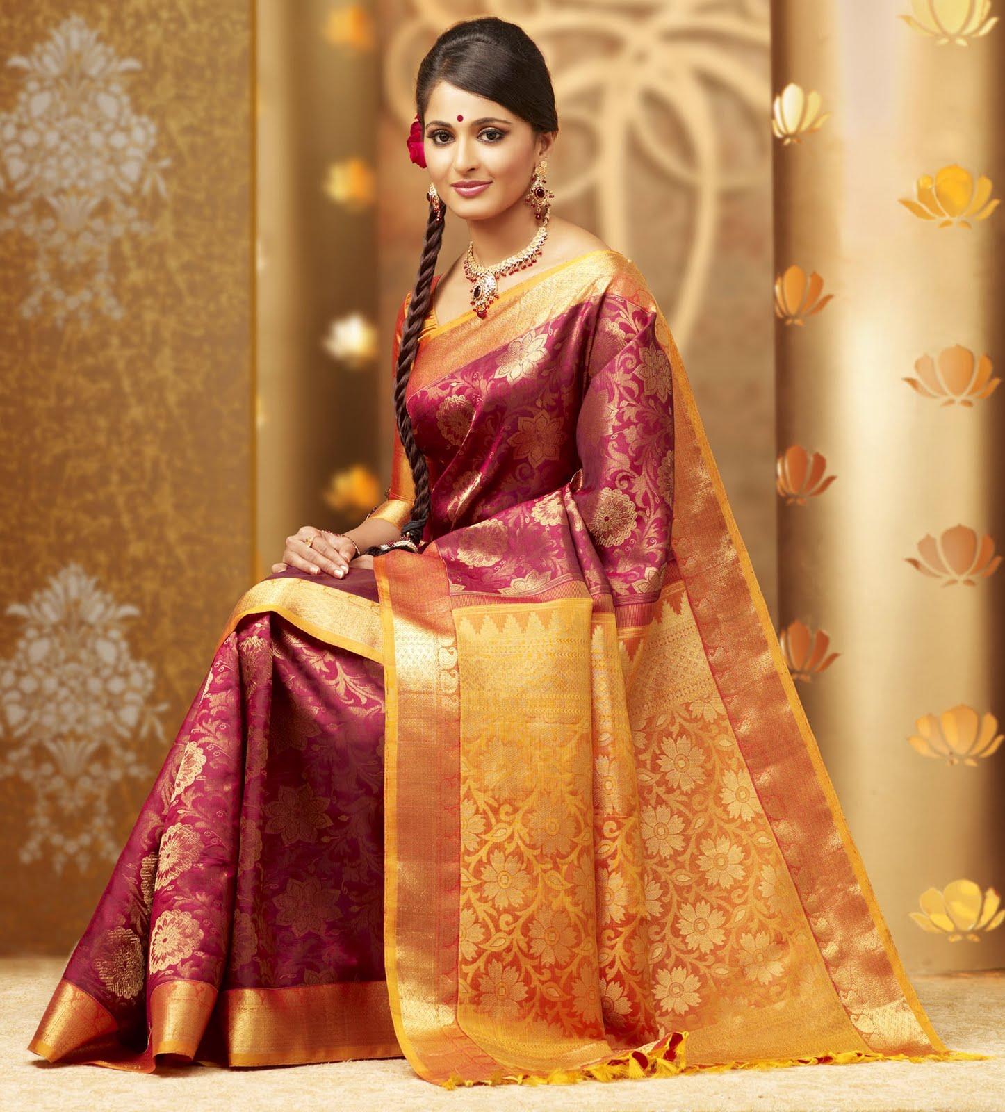 Anushka Shetty In Chennai Silk Sarees