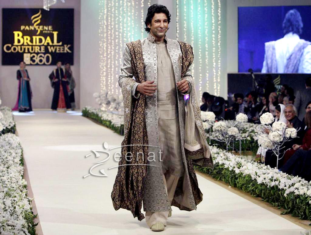 Wasim Akram Men Groom's Sherwani Style