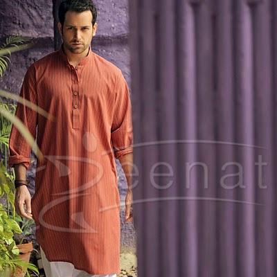 Abdullah Ejaaz In orange Salwar Kameez