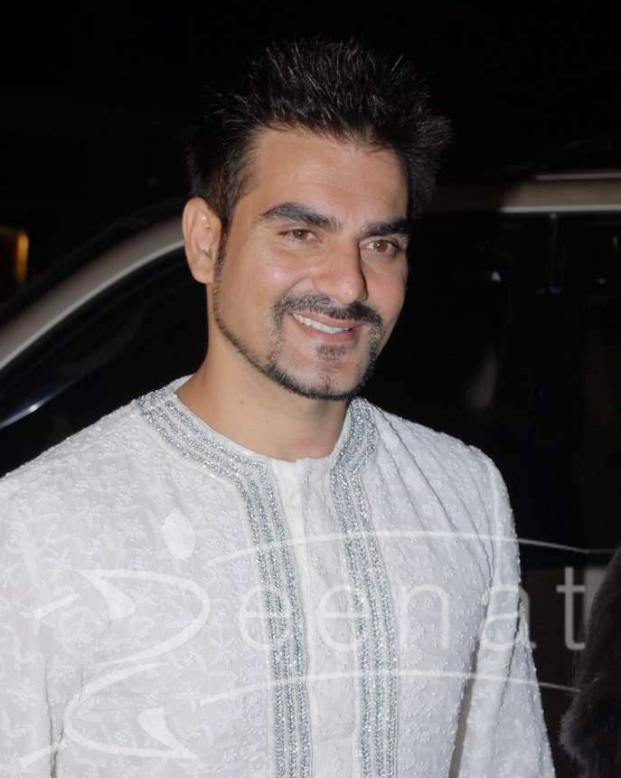 Arbaaz Khan in white kurta pajama