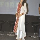 Genelia D'Souza White Churidar Salwar Kameez | Force Movie Premiere