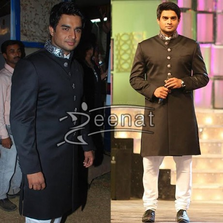 R Madhavan In Black Sherwani Coat