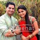 Karan Mehra In sherwani & hina khan In saree