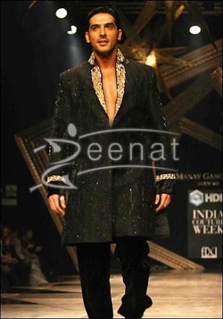 Zayed Khan In Black Sherwani