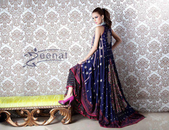 Fauzia Amir Pakistani A-Line Designer Frocks