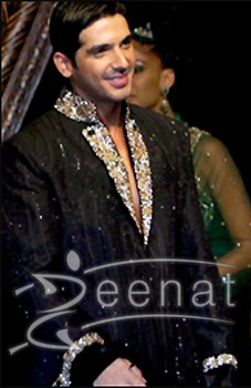 Zayed Khan In Black Sherwani