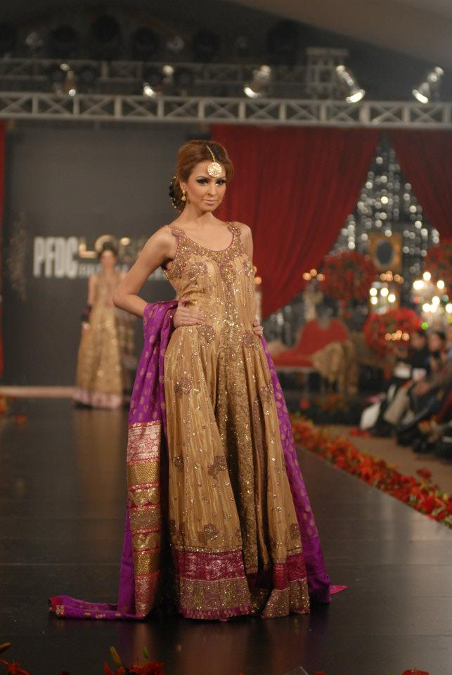 Umar Sayeed Bridal Dresses PFDC Loreal Paris Fawad | Zeenat Style