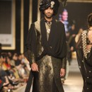 Black Sherwani With Golden Uper