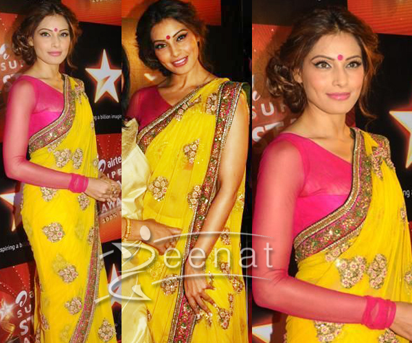 Bipasha Basu Indian Chiffon Saree