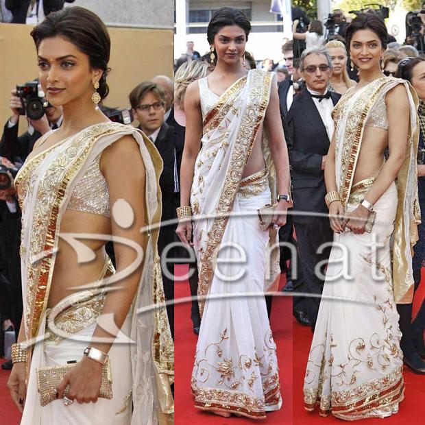 Deepika Padukone Indian Saree