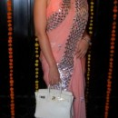 Kangana Ranaut In Peach Designer Saree