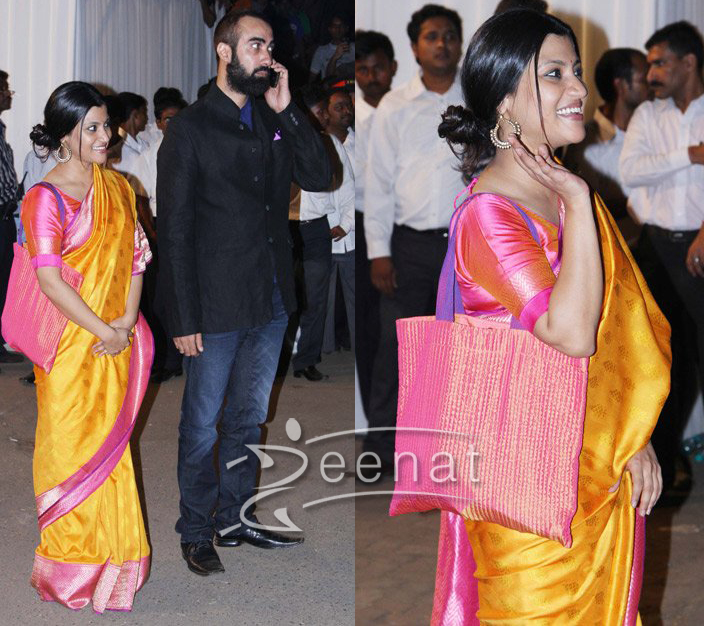 Konkona Sen Sharma In Casual Sarees
