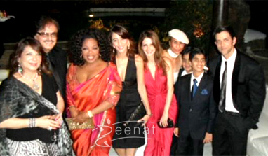 Oprah Winfrey In Saree Indian Visit