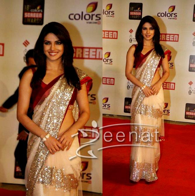 Priyanka Chopra At Screen Awards 2012