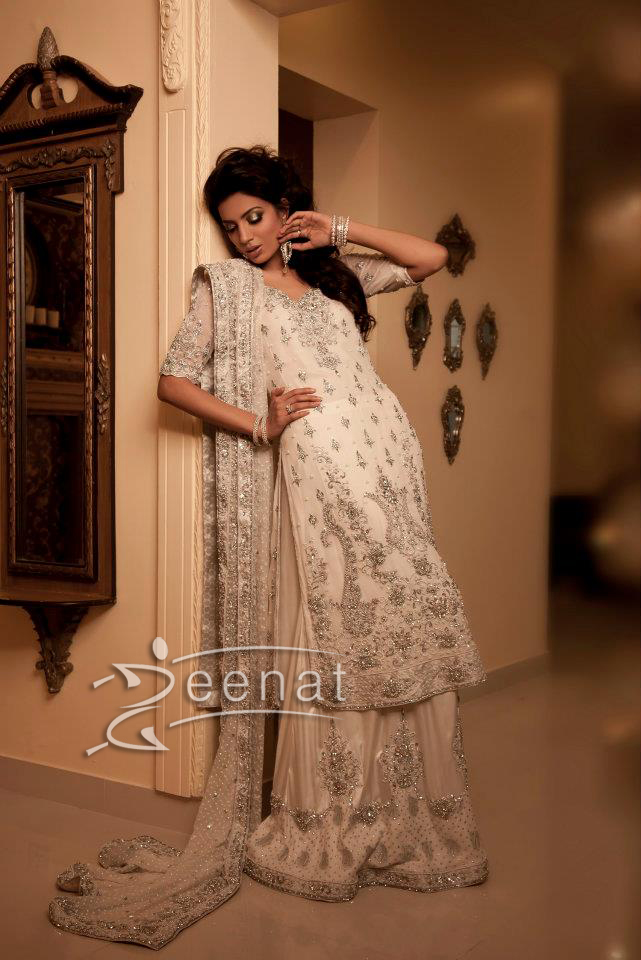 Rabia Butt In Maria B White Brides Lehenga Choli