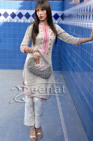 Uzma Khan Capri Parallel Suit