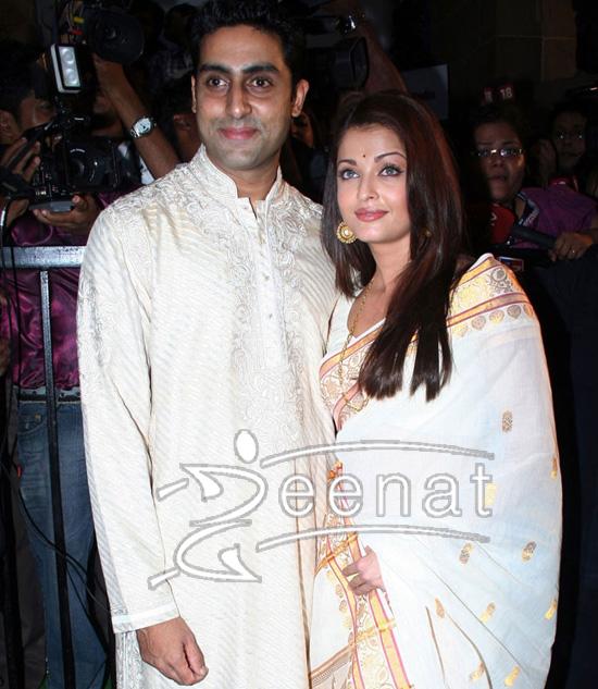 Abhishek Bachchan cream Banarsi Kurta