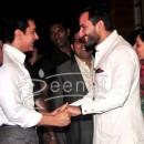 Saif and amir shake hand