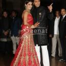 Ritesh Deshmukh with Genelia at their Wedding Reception at Hotel Grand Hyatt in Mumbai