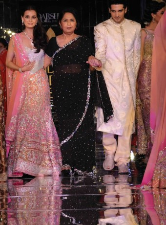 Dia Mirza And Zayed Khan In Wedding Dresses By Adarsh Gill