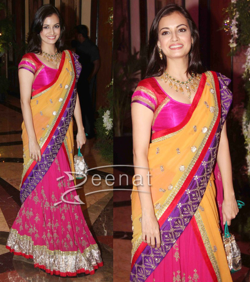 Dia Mirza Half Saree Design