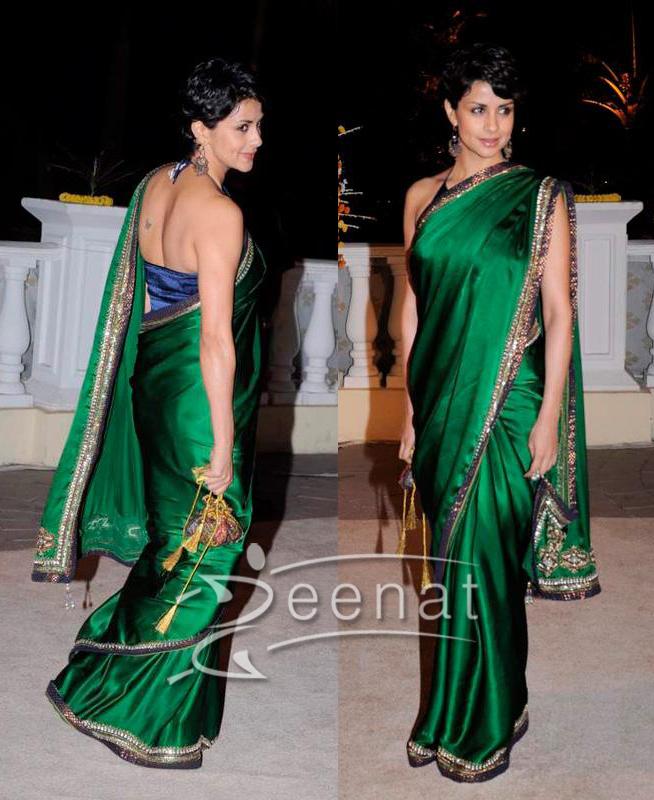 Gul Panag Green Silk Sarees