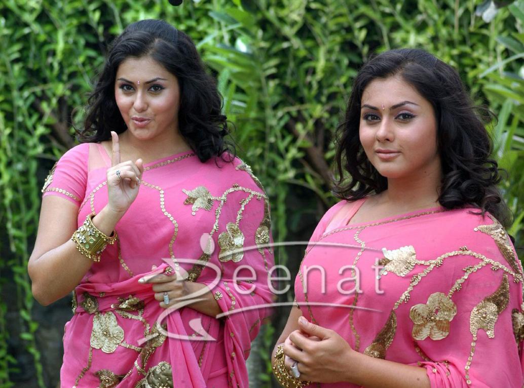 Namitha In Pink Saree