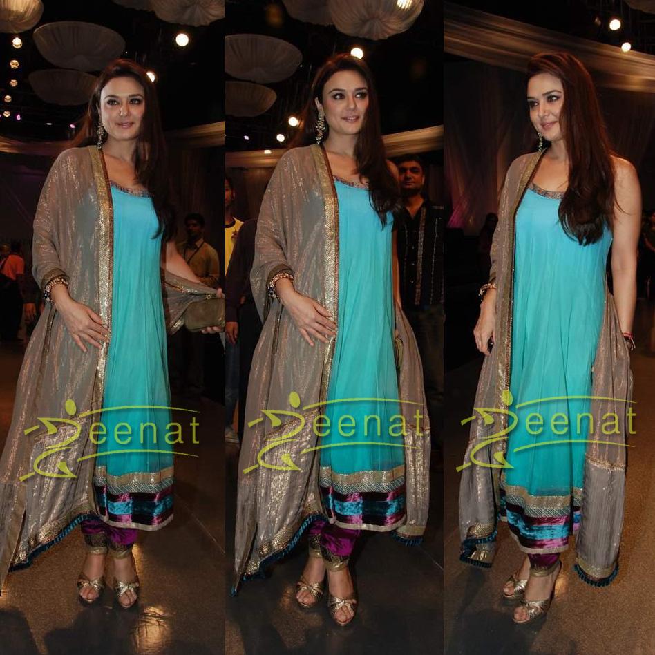 Preity Zinta In Anarkali Churidar