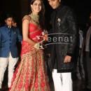 Ritesh Deshmukh with Genelia at their Wedding Reception pics at Hotel Grand Hyatt in Mumbai