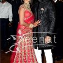 Ritesh Deshmukh with Genelia at their Wedding Reception pic