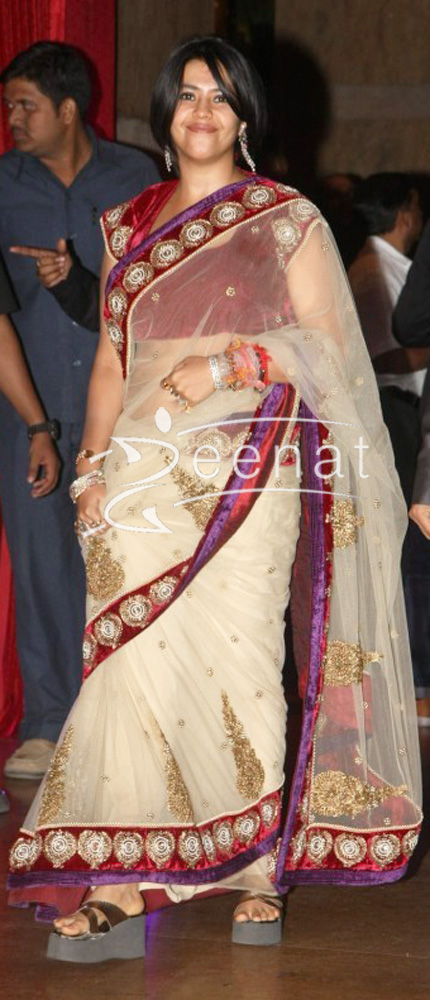 Ekta Kapoor at Ritesh Deshmukh Genelia Wedding Reception at Hotel Grand Hyatt in Mumbai