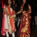 Rekha with Juhi Chawla at Ritesh Deshmukh Genelia Wedding Reception at Hotel Grand Hyatt in Mumbai
