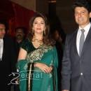Madhuri Dixit Nene with husband Sriram Nene at Ritesh Deshmukh Genelia Wedding Reception