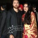 Imran Khan with Rekha at Ritesh Deshmukh Genelia Wedding Reception