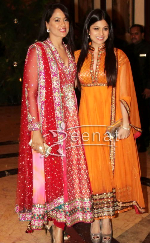 Shamita Shetty at Ritest and Genelia's Sangeet Ceremony