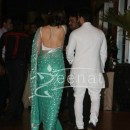 Kareena Kapoor backless at Ritesh Deshmukh Genelia Wedding Reception at Hotel Grand Hyatt in Mumbai