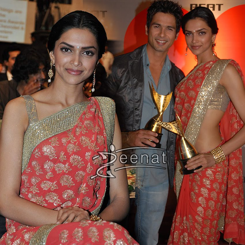 Deepika Padukone In Indian Designer Saree