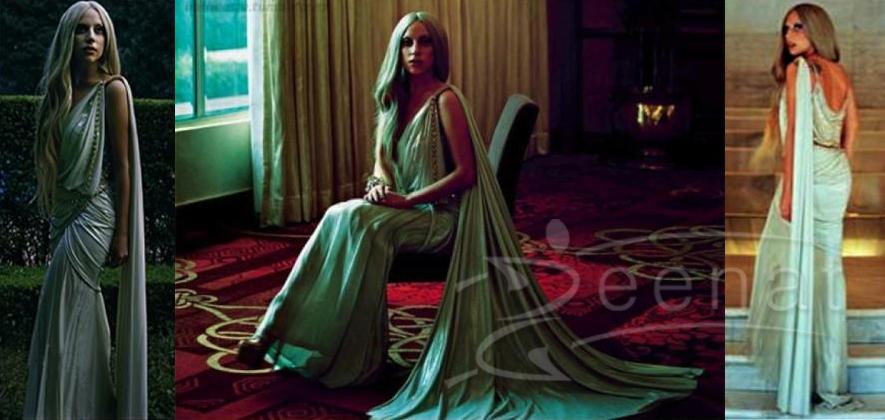 Lady Gaga In Tarun Tahiliani Saree