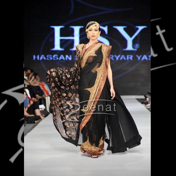 Misha Shafi In Black Saree