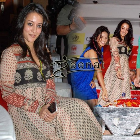 Raima Sen In Anarkali Churidar