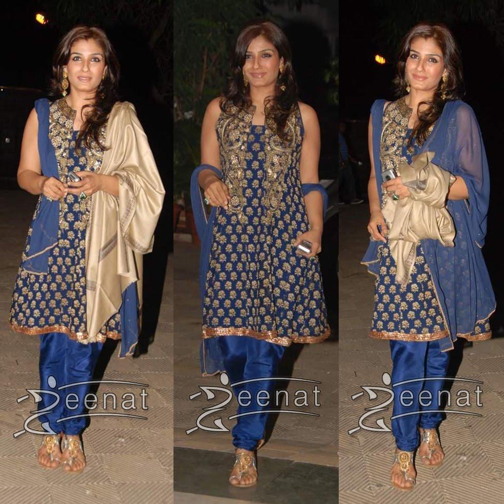 Raveena Tondon Churidar Salwar kameez