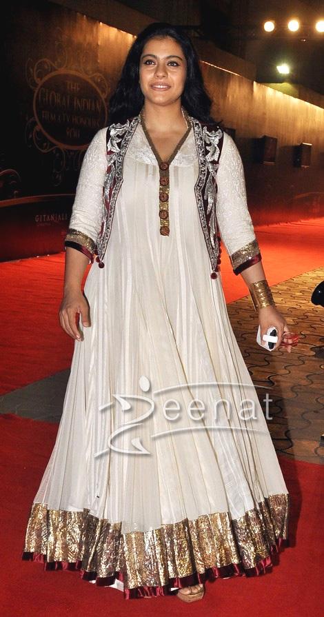 Kajol In Designer Frock With Embroidered Top Zeenat Style