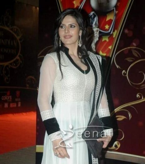 Zarine Khan White N Black Anarkali
