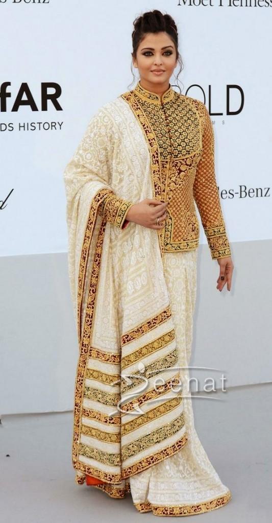 Aishwarya Rai In Designer Abu Jaani and Sandeep Khosla