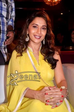 Madhuri Anarkali Churidar Suit Yellow