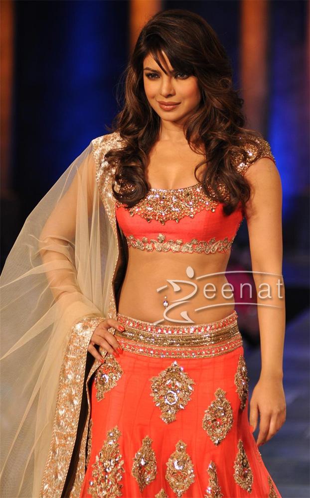 Priyanka Chopra Lehenga Choli Mijwan Fashion Show