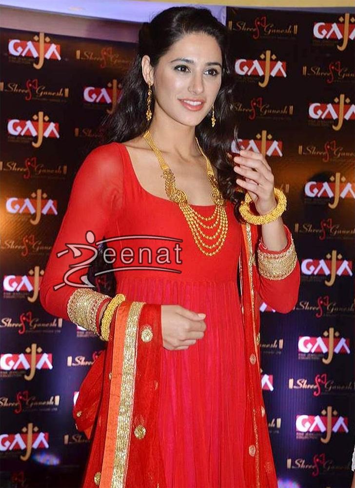 Nargis Fakhri Anarkali Churidar Suit - Gaja Jewellery