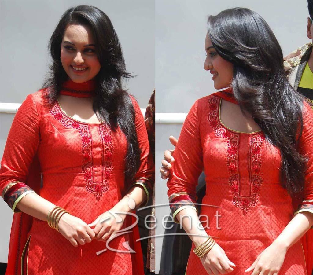 Fashion style Sonakshi Beautiful sinha salwar kameez dresses for woman